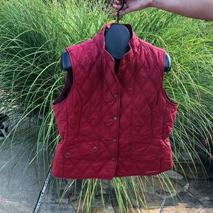 Eddie Bauer Red Quilted Vest